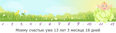 Вес ребенка в 3 года?