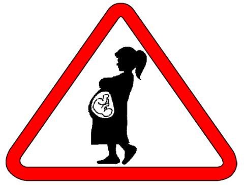 Новый знак «Беременная за рулём»