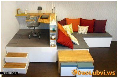 Мебель «Матрешка» на четырех квадратных метрах