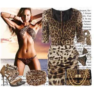 Платья леопардовые и аксессуары