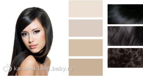 Волосы темный шатен