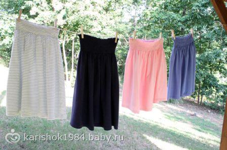 Шьем юбку для беременных
