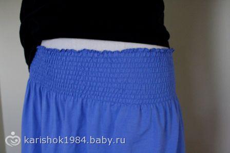 Как сделать из юбки юбку для беременных