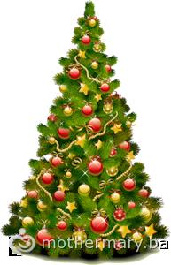 Новогодняя елка в европейском стиле., украсить елку в ...