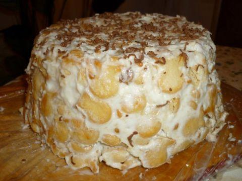 Торт из печенья рыбки со сметаной