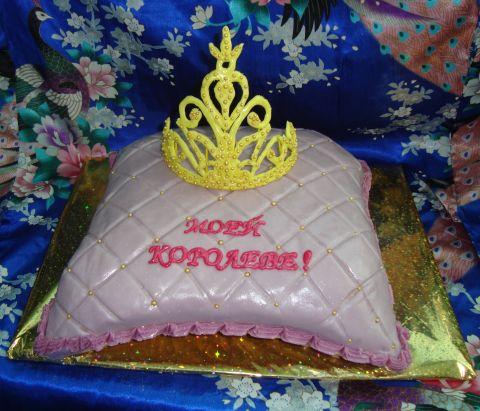 рецепт торта из мастики в виде подушки для мамы