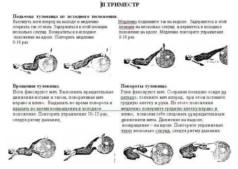 упражнения для беременных с фитболом