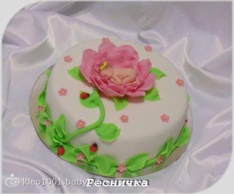 Фото торта новорожденного ребенка