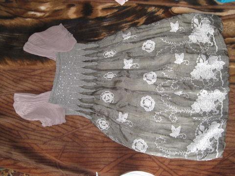 Нарядное беременное платье…