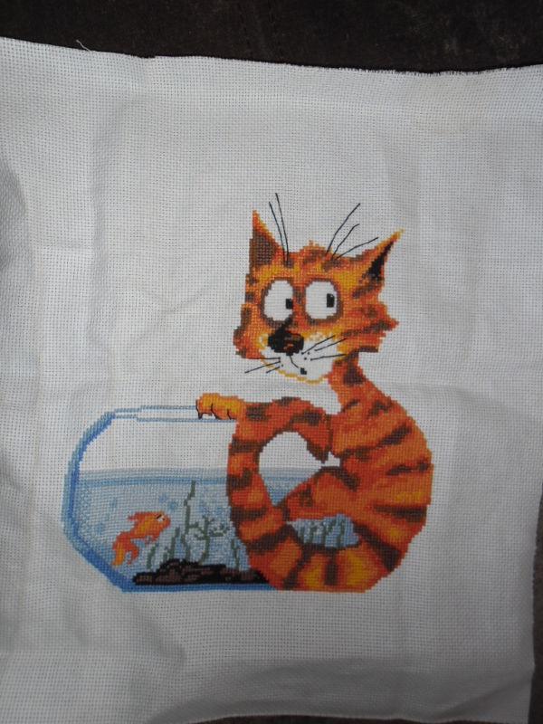 Рыжий кот вышивка скачать