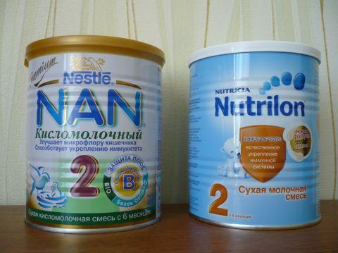 Продам Смеси НАН кисломолочный 2 и Нутрилон 2
