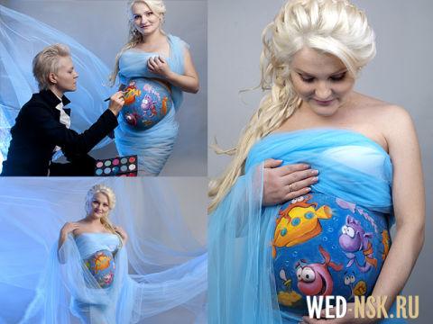 беременный бодиарт...(фото)