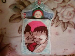 Вязанный конвертик для малыша