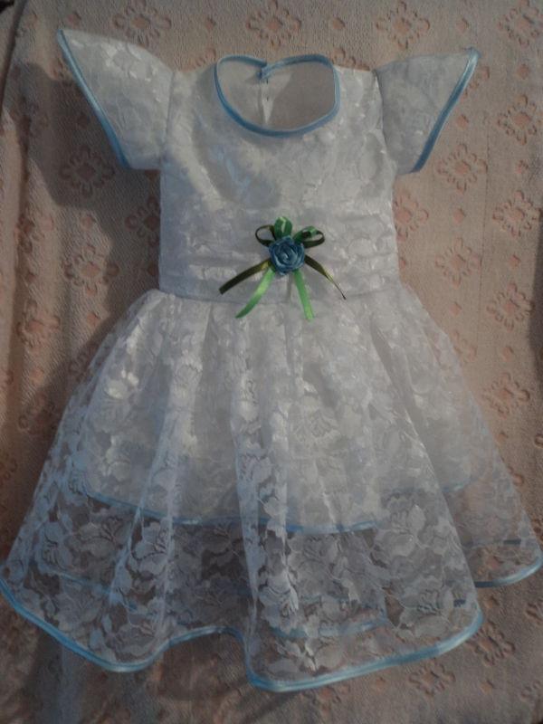 крестильное платье)пробую шить)))