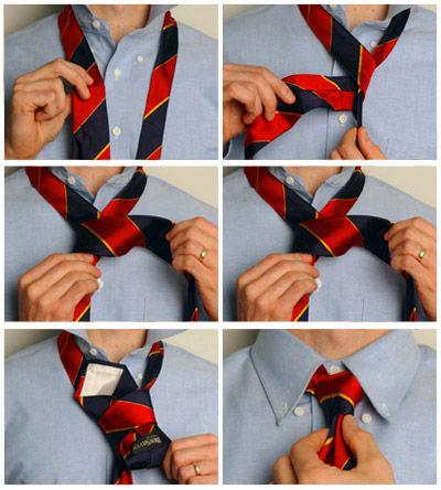 Как завязывать галстук на свадьбу