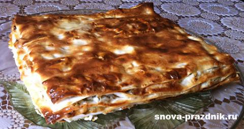 Вкусняшка из лаваша с творогом в духовке! Пошаговый легкий рецепт.