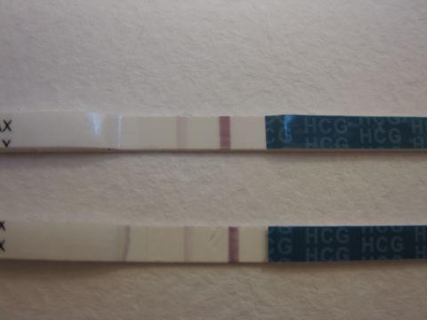 Тест на беременность слабая вторая полоска фото