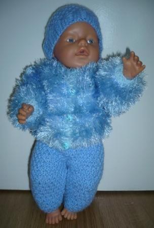 Голубой костюмчик для бэби бона