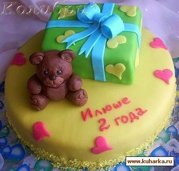 Детский торт рецепт фото без мастики
