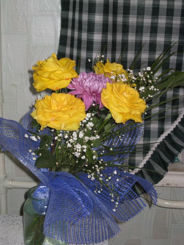 цветы-так неожиданно и так приятно)))