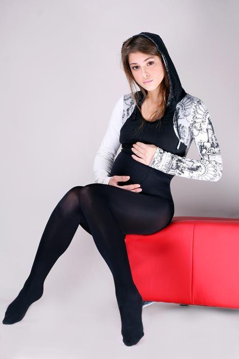 реальные фото беременных в колготках