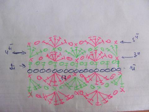 ажурная повязка крючком для девочки схема