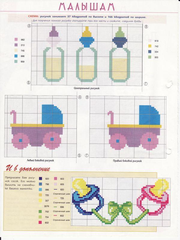 Схемы вышивки с детской тематикой