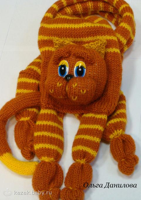 Вязание игрушек для котиков 5
