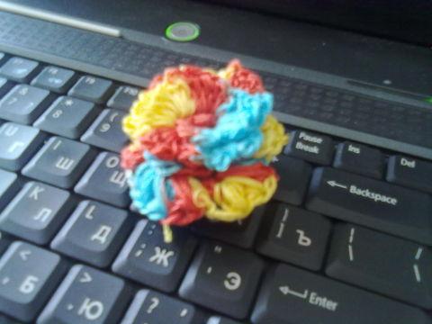 Цветочек крючком.