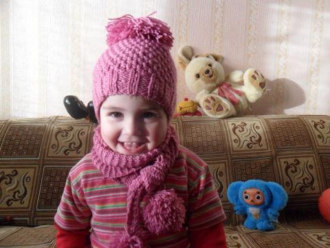 Моя первая шапочка и шарфик