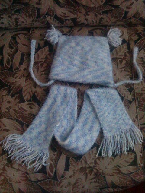 Хвастаюсь. Шапочка и шарф.