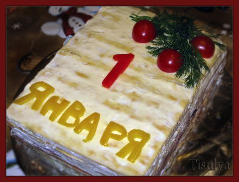 Рецепт новогоднего торту с фото