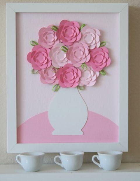 Коробке, открытка ваза с цветами из бумаги своими руками