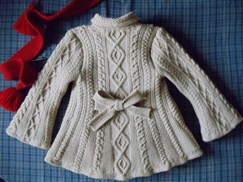 КРАСИВЕННОЕ вязанное пальто для девочки!!!