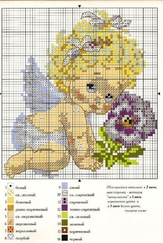 Детские рисунки для вышивки крестиком