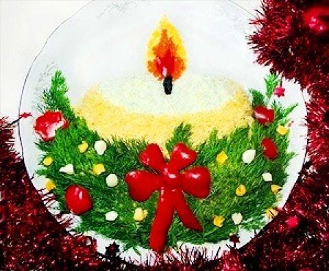 Новогодние салаты 2011 год с фото и украшения