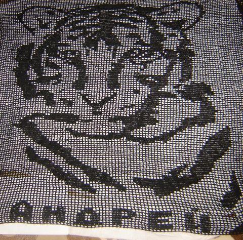 Схема вязанных тигров
