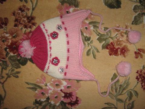 Джинсовый комбезик и шапочка для девочки